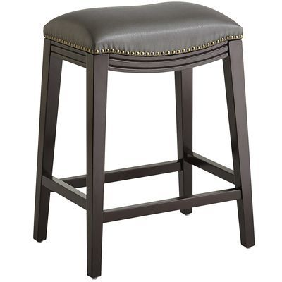 Halsted Pewter Backless Counter Stool With Images Counter