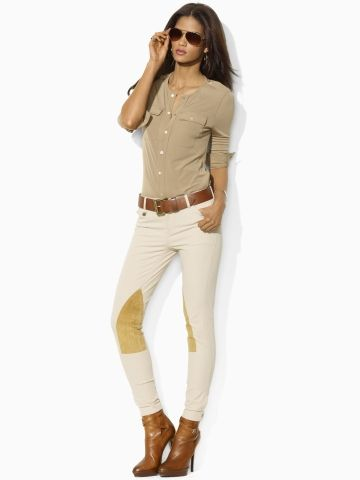 Isabelle Shirt - Blue Label Long-Sleeve - RalphLauren.com