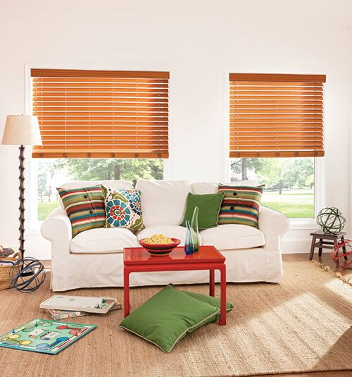 Bali Northern Heights 2 1 Shutter Style Wood Blinds Shown In Maple