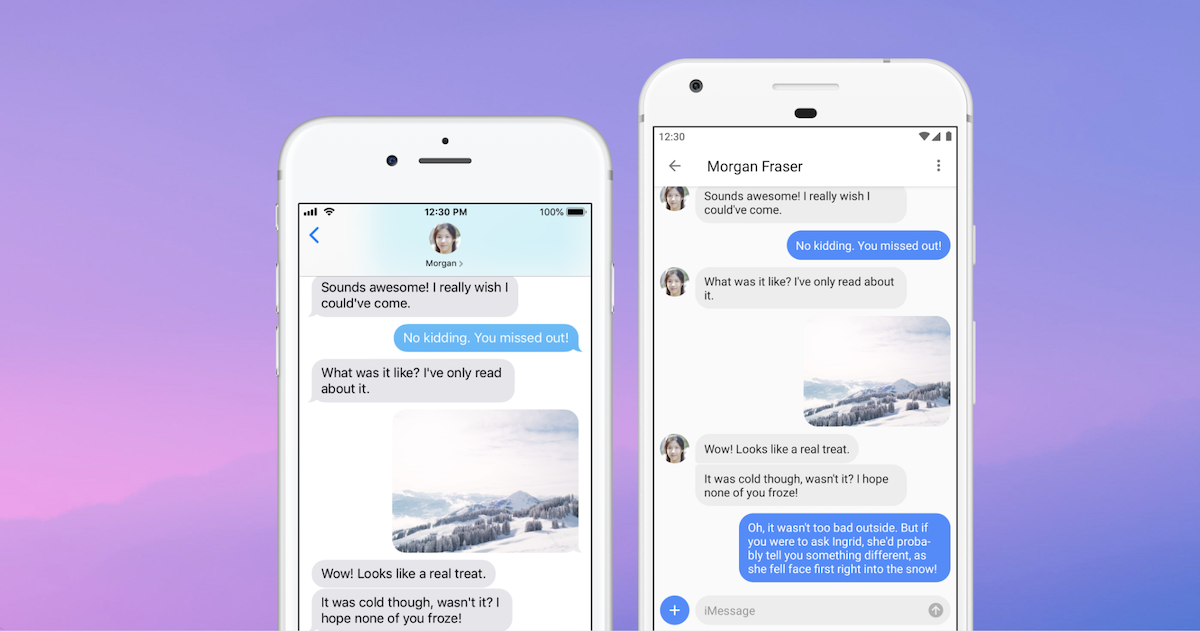 Use iMessage on Android with AirMessage View from the