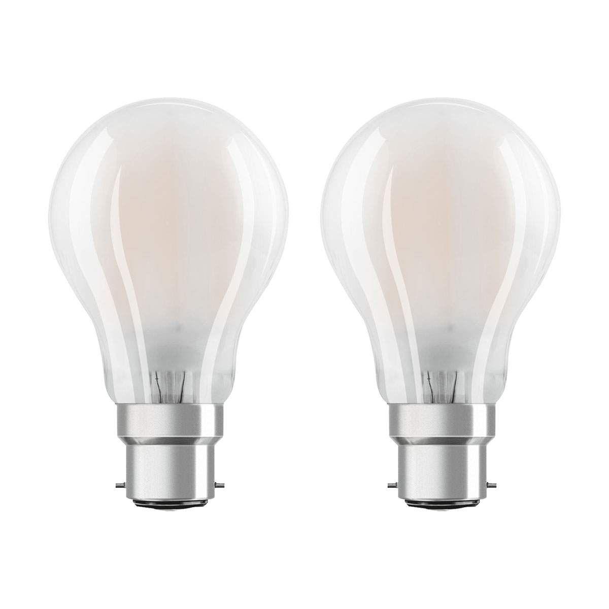 Osram Led Lampe B22d Classic 827 7w 2er Pack Matt Led Lampe Led Und Osram