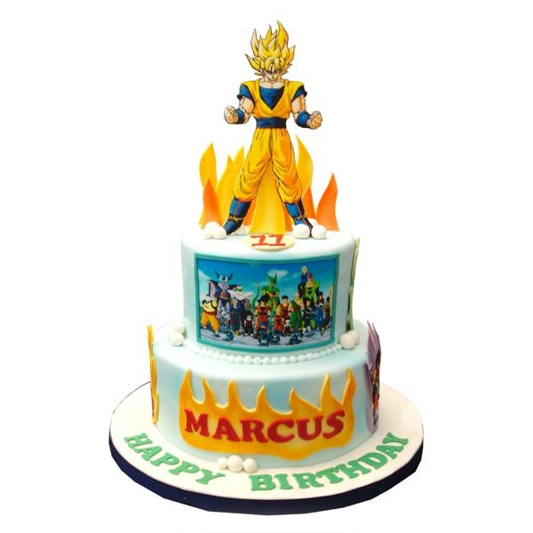 Dragon Ball Z Cake Decorations Buccias Cakes Torta Dragon Ball Ii  Anime And Other Geeky Things
