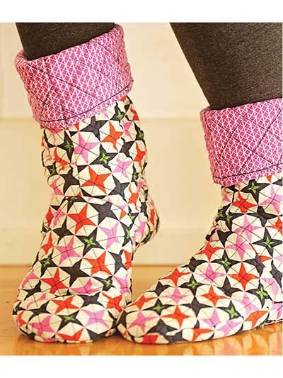 Make a pair of comfy slipper socks with recycled sweaters, quilted ... : quilted slippers pattern - Adamdwight.com