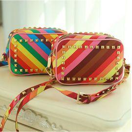 Retro Vintage Women's shoulder bags colorful no MOQ good quality