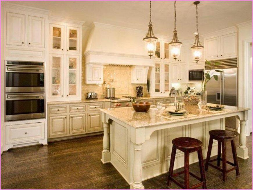 Kitchen Dark Wood Floor Cream Cabinets Antique White Kitchen Cabinets Antique White Kitchen Off White Kitchen Cabinets