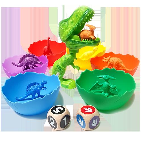 Jumbo Sorting Counting Dinosaurs Activity Set In 2020 Dinosaur Toys For Boys Dinosaur Toys For Toddlers Dinosaur Toys