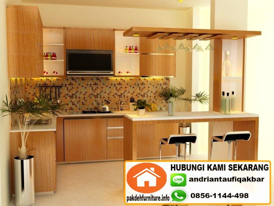 Jual Custom Kitchen Set Mini Bar Murah Di Bogor Interior Dapur