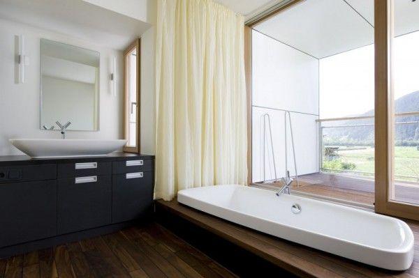 Vasca di mony su pinterest. Insolito Tende X Vasca Da Bagno Modern Bathroom Design House Contemporary House