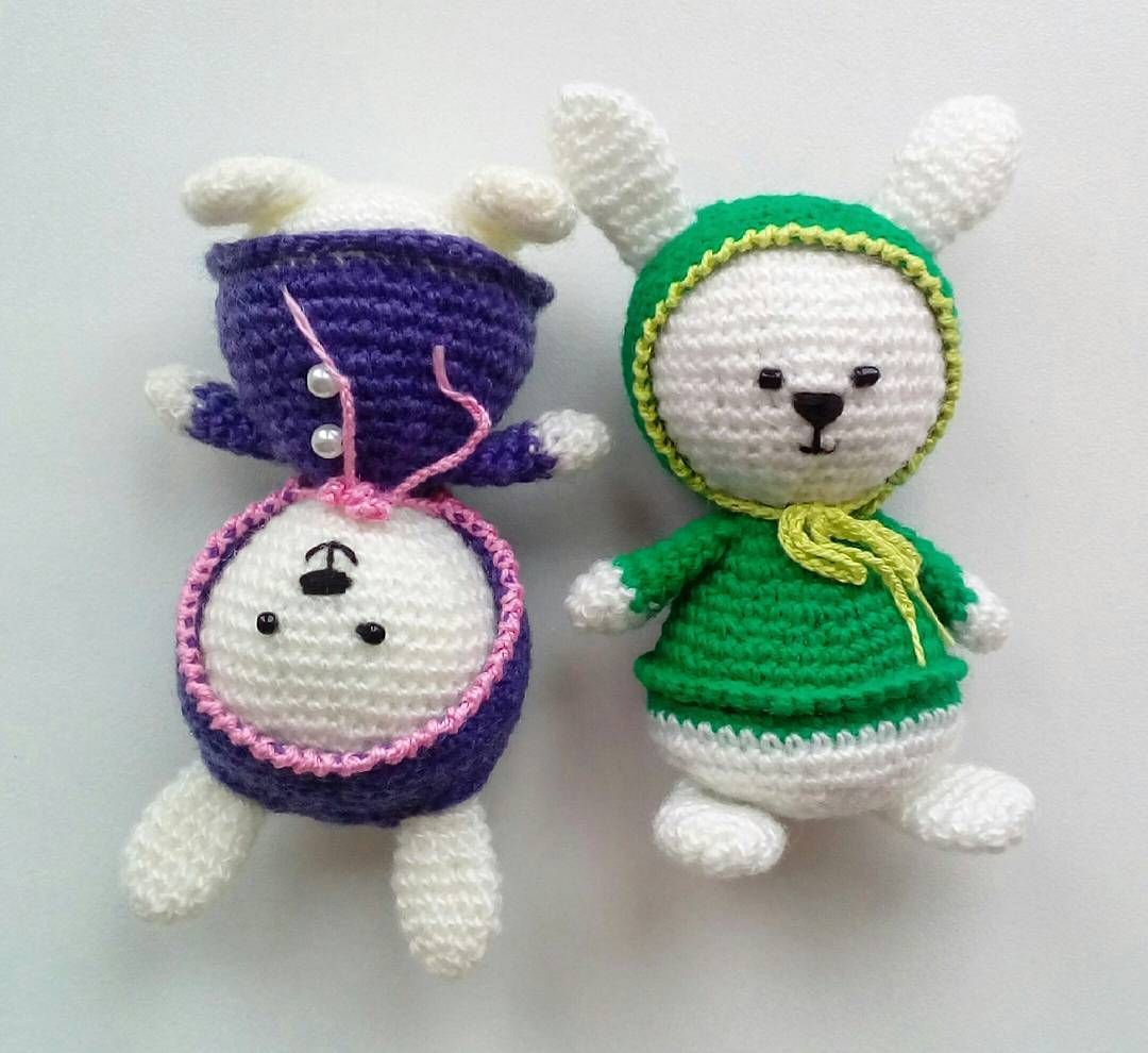 newada79:: Зайки-попрыгайки. #амигуруми #вязаниекрючком #вяжутнетолькобабушки #ручнаяработа #игрушкакрючком #зайка #amigurumi #crochet #crocheting #handmade #häkeln #knitting #инстамир #toys_gallery #toys #villy_vanilly_shop #woki1 #bunny #инстамама #инстадети #рукоделие #милота #amigurumitoy #instacrochet #вязаныеигрушки #рукоделие