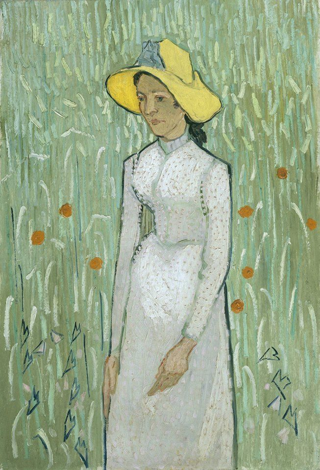 Van Gogh, Girl in White, Summer 1890. Oil on canvas, 66.7 x 45.8 cm. National Gallery of Art, Washington DC.