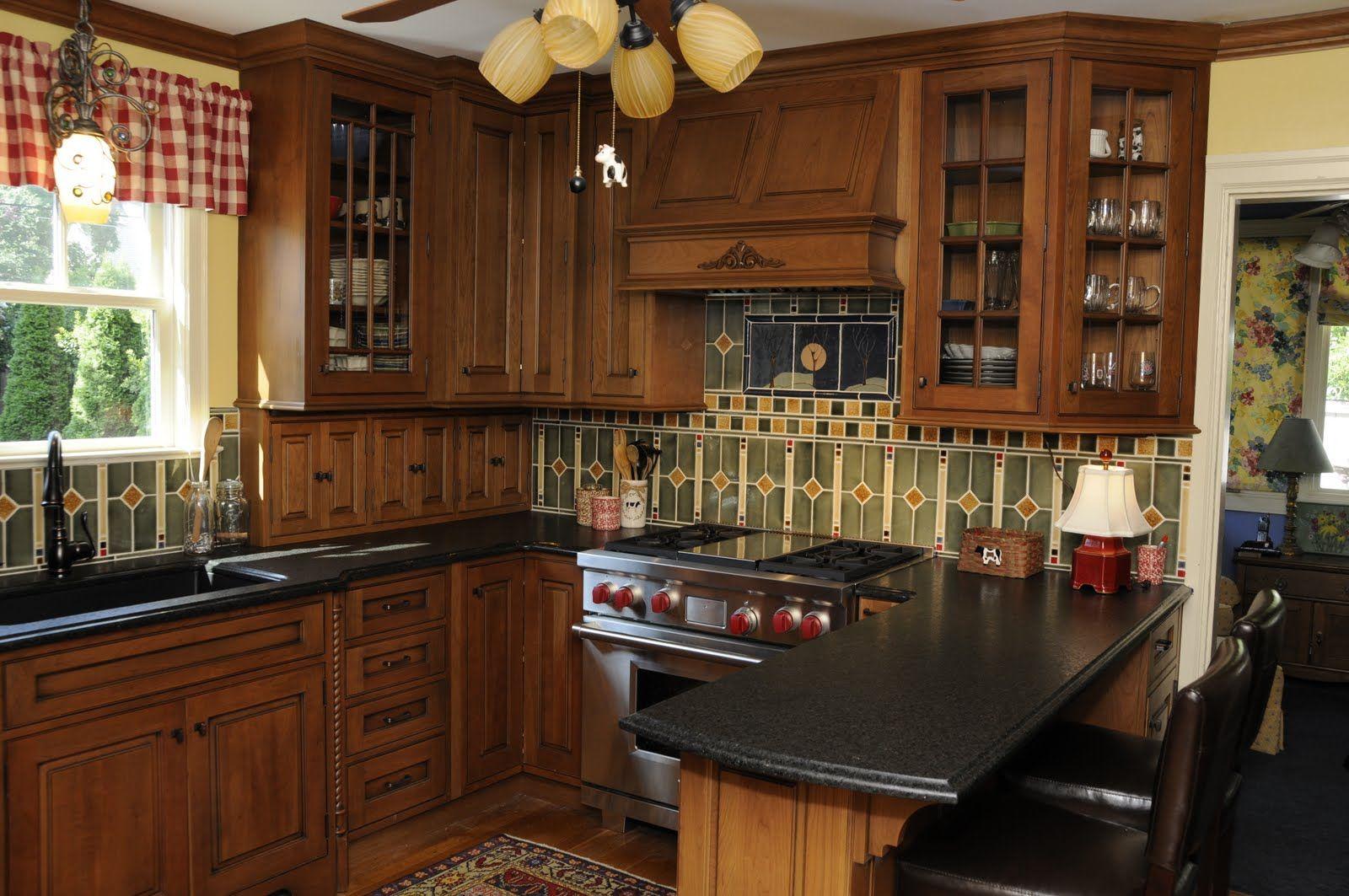 Craftsman Kitchen Backsplash Hells Apartments Arts And Crafts Crafting