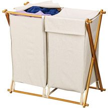 $16.47 Walmart: Household Essentials Double-X Frame Folding Hamper with Natural Bag