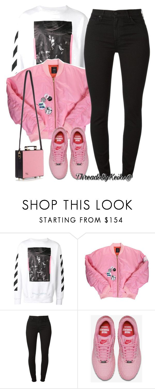 """Hoping you smile a lot today! 😋"" by threadsbykeiko ❤ liked on Polyvore featuring Off-White, NIKE and Olympia Le-Tan"