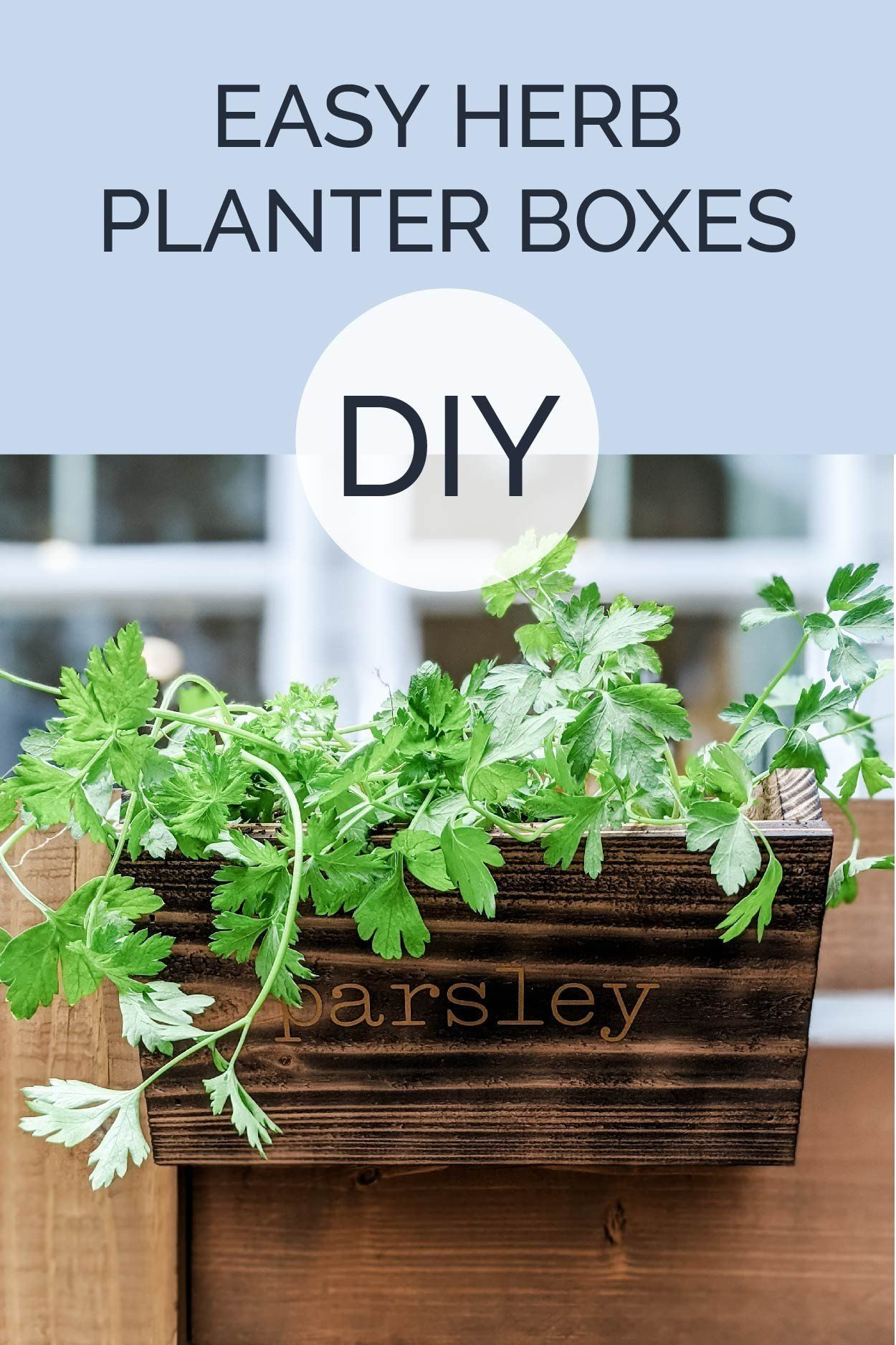 Diy Herb Planter Box Crafted By The Hunts In 2020 Herb Planter Box Herb Planters Planter Boxes