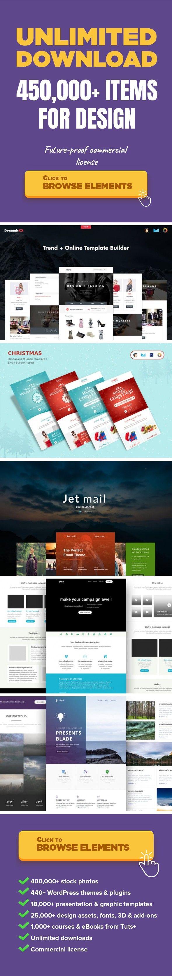 Trend Responsive Fashion Email Online Builder Web Templates - Mailchimp template builder