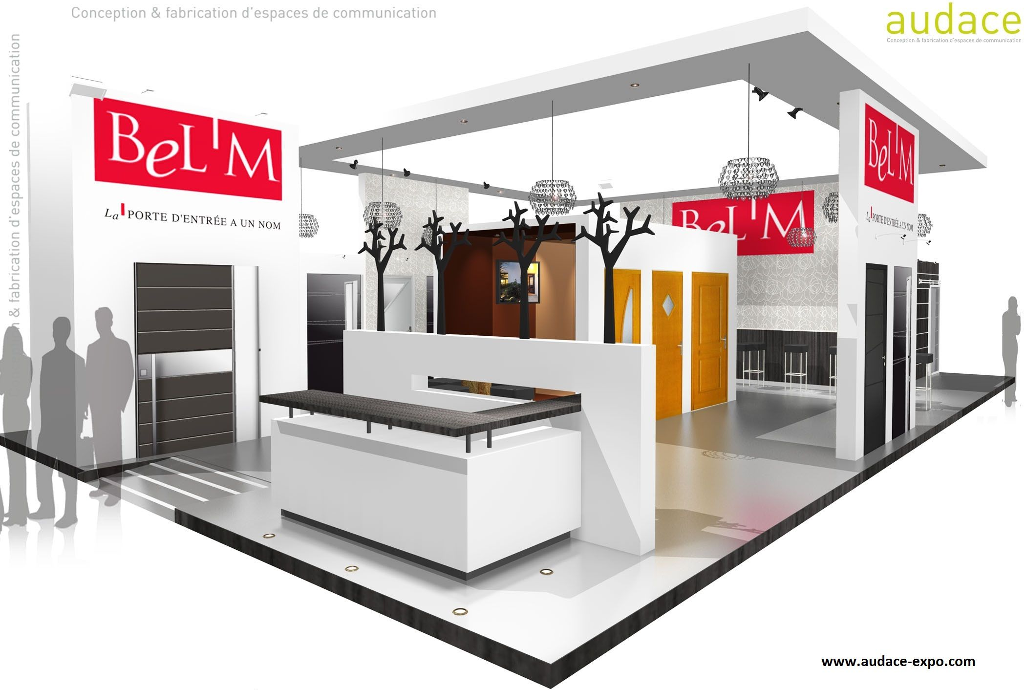 Stand audace expo nantes stand showroom stand pliable stand modulable stand traditionnel for Stand pliable