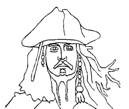 coloring pages jack sparrow - photo#28
