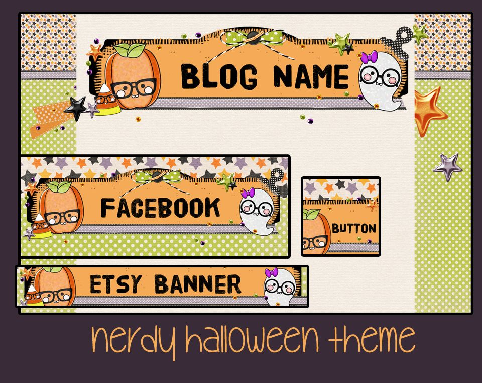 Nerdy Halloween Pre-Made Blog Designs Pinterest Blog designs - halloween catalog