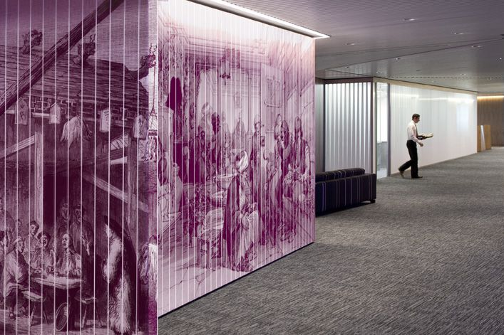 Macquarie Group London Egg Office Environmental Graphics Experiential Graphics Wayfinding Signage