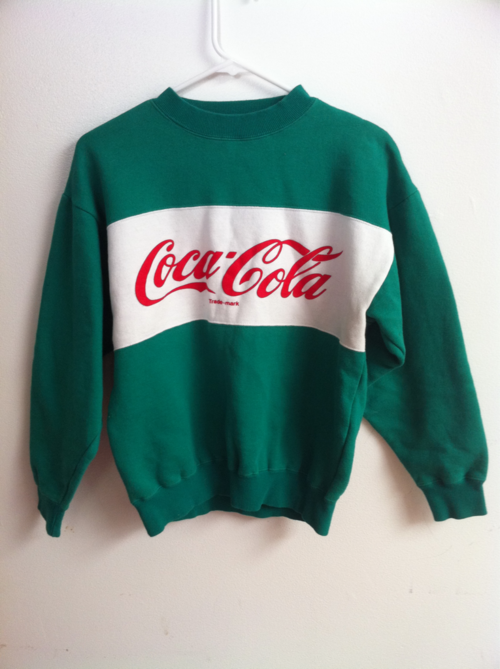 45925b4054f Coca-Cola Sweatshirt if you didn't have one parents were broke! | Do ...