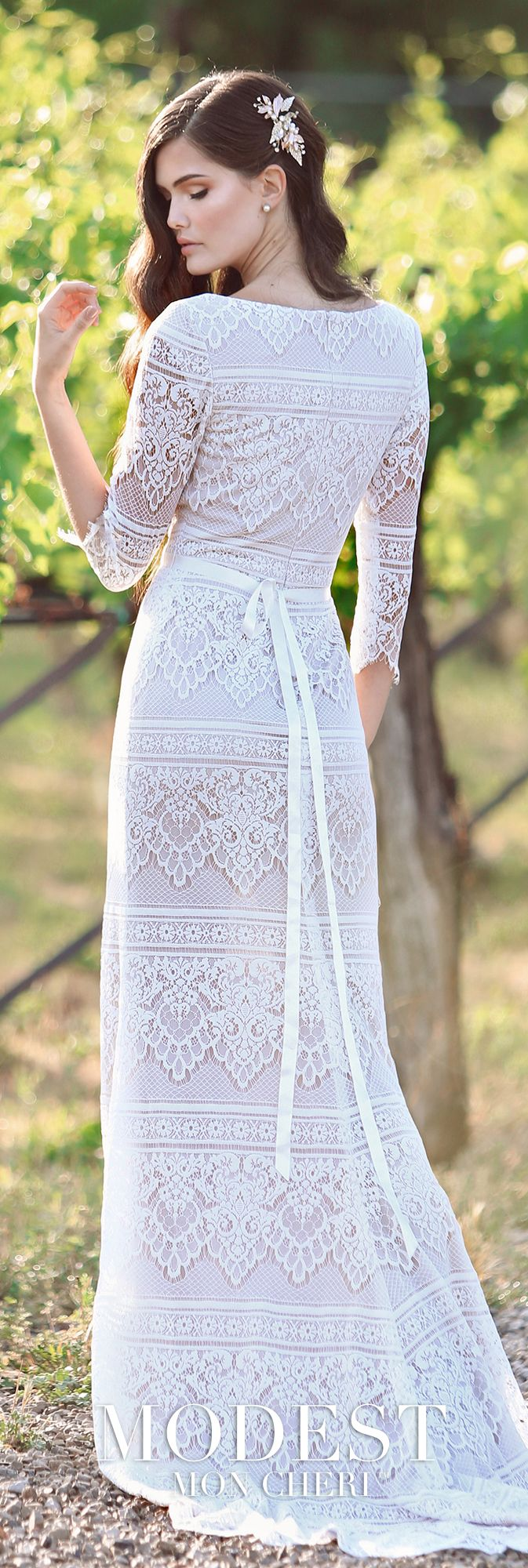 Tr modest wedding embroidered lace and scalloped edge