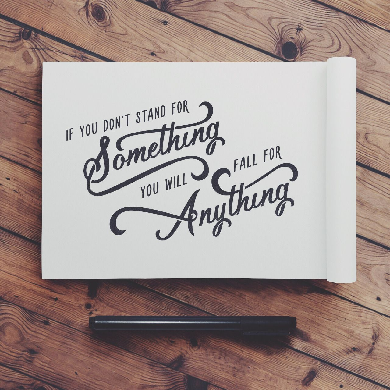 Stand For Something Hand Drawn Typography Quote By Jenna Bresnahan