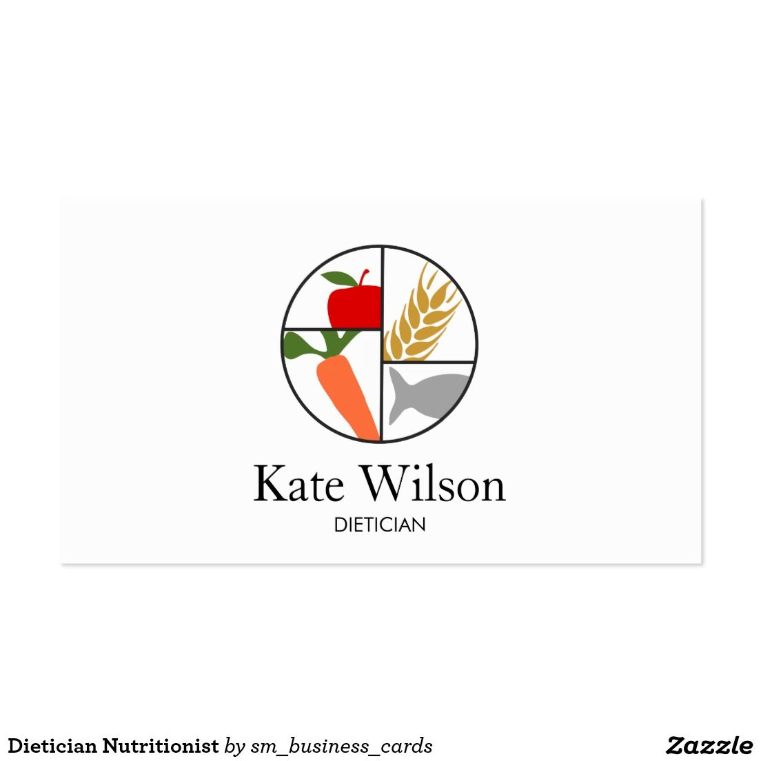 Dietician nutritionist business card business cards business and dietician nutritionist business card reheart Image collections