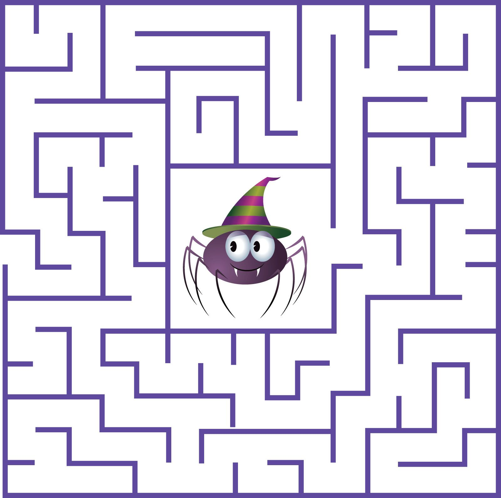 Halloween Maze Printable Worksheets