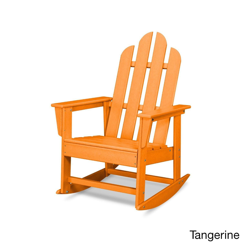 Polywood Long Island Rocker (White), Size Single, Patio Furniture (Plastic)
