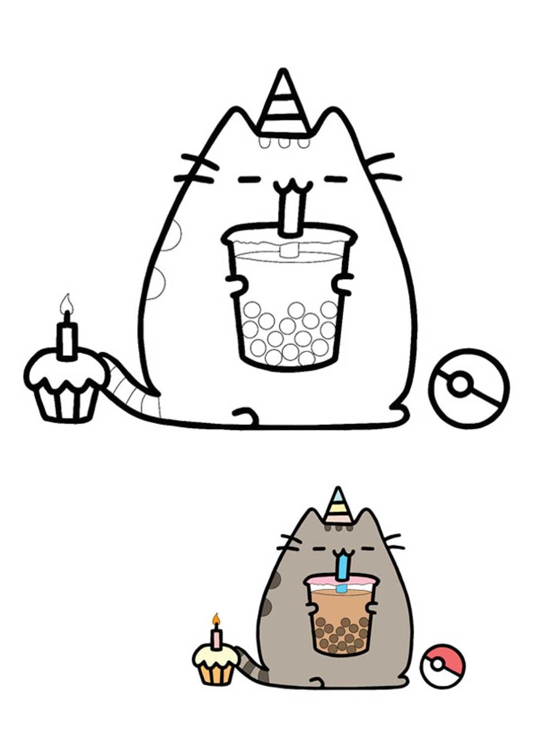 46++ Pusheen cat mermaid coloring pages information