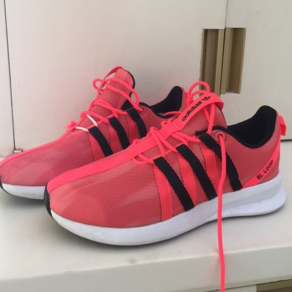 a2c40be1d6811 Adidas sl loop ortholite sneakers Bright neon orange kicks. Super cute and  comfy Adidas Shoes Athletic Shoes