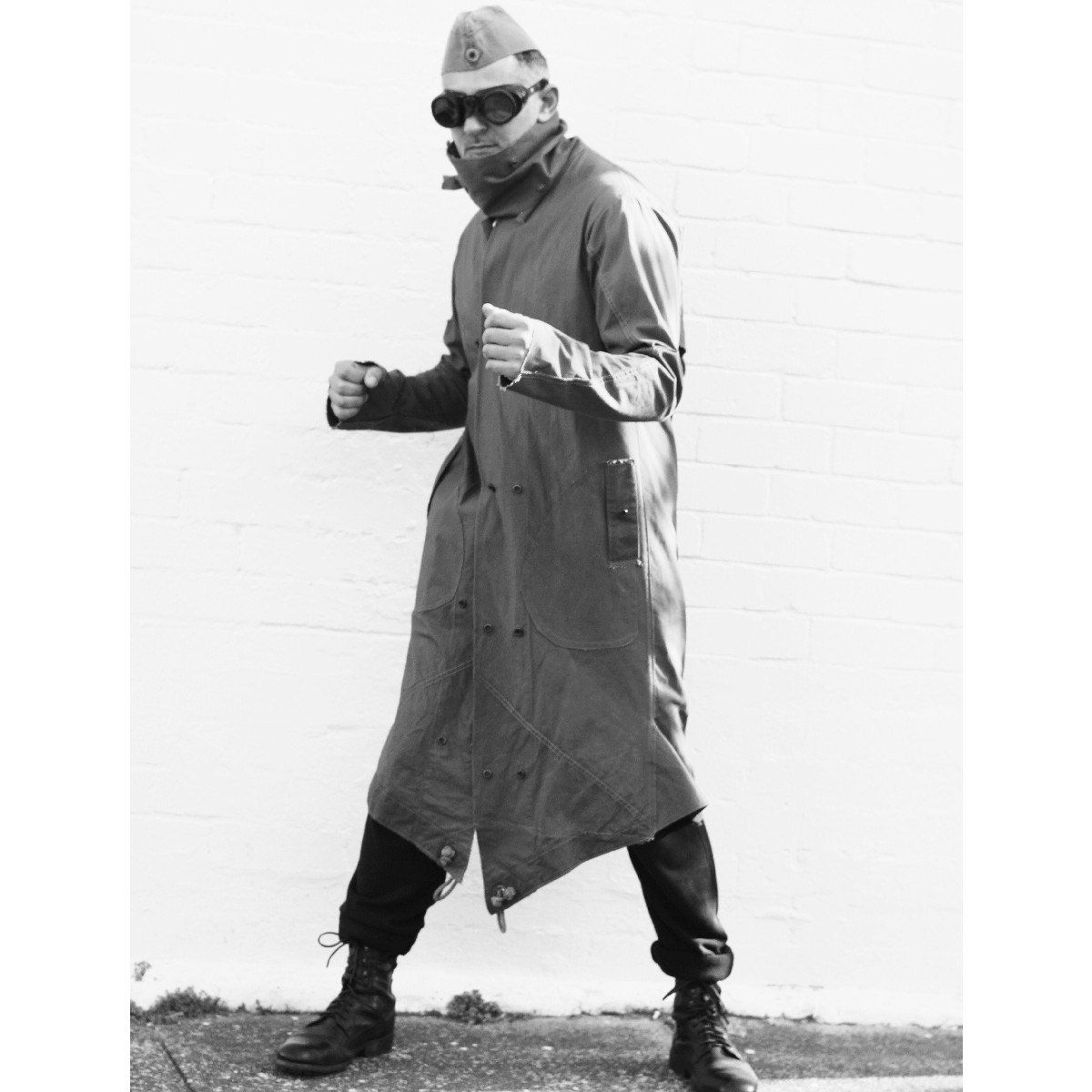 Men's Military 'Area 51' Army Green Weatherproof Coat From