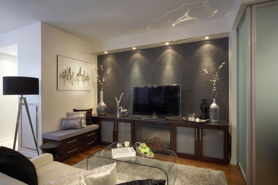 Toronto Transitional Den Design by Lux Design | → Updated ...