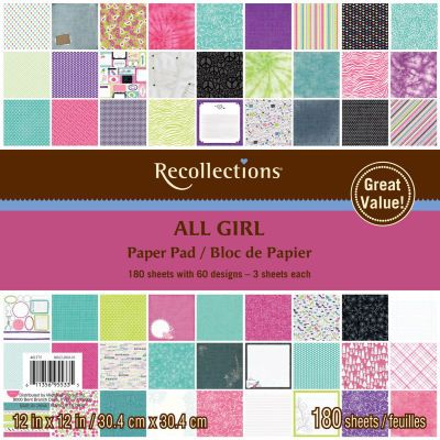 recollections 180 sheet paper pad all girl each paper pad recollections 180 sheet paper pad all girl each paper pad offers 60 pronofoot35fo Gallery