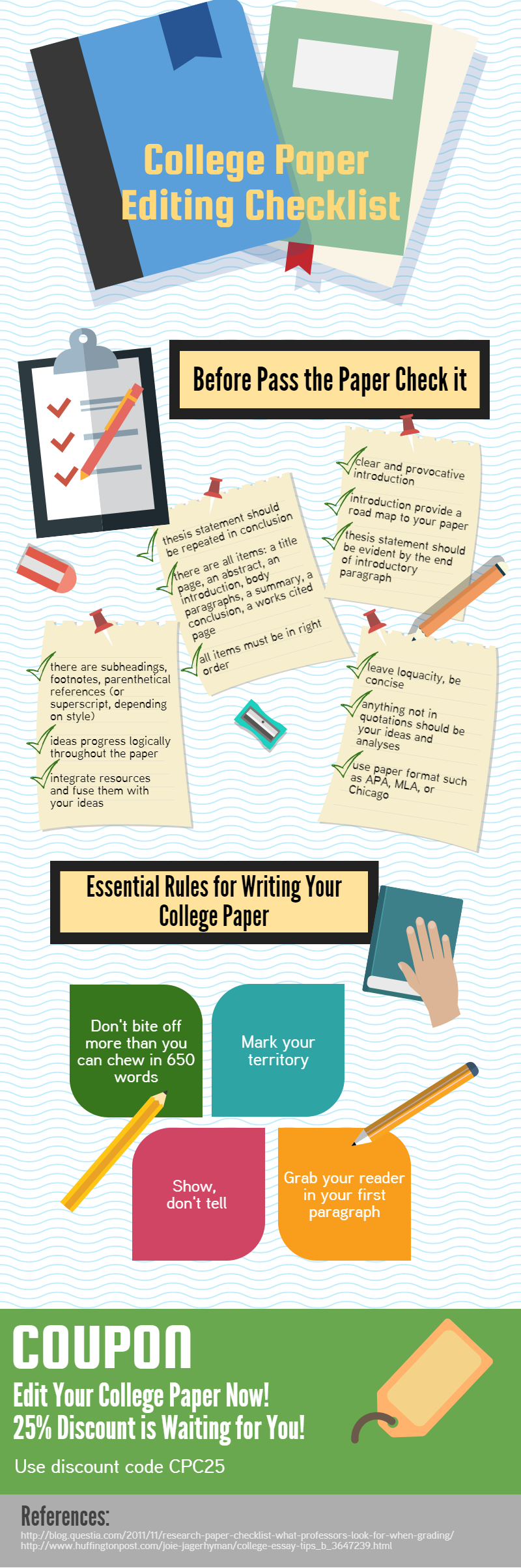 College Paper Editing Checklist #Infographic