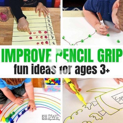 25+ Activities to Improve Pencil Grip