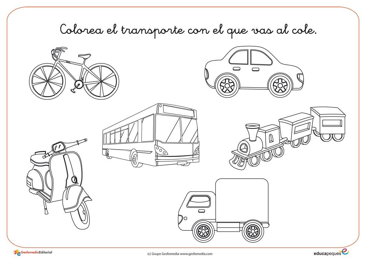 Fichas De Infantil Actividades Para Imprimir Actividades De Transporte Transporte Preescolar Educacion Vial Para Ninos