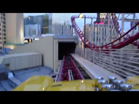Manhattan Express (HD POV Sunset) New York New York Las Vegas Nevada....I have ridden  this TWICE!!!!