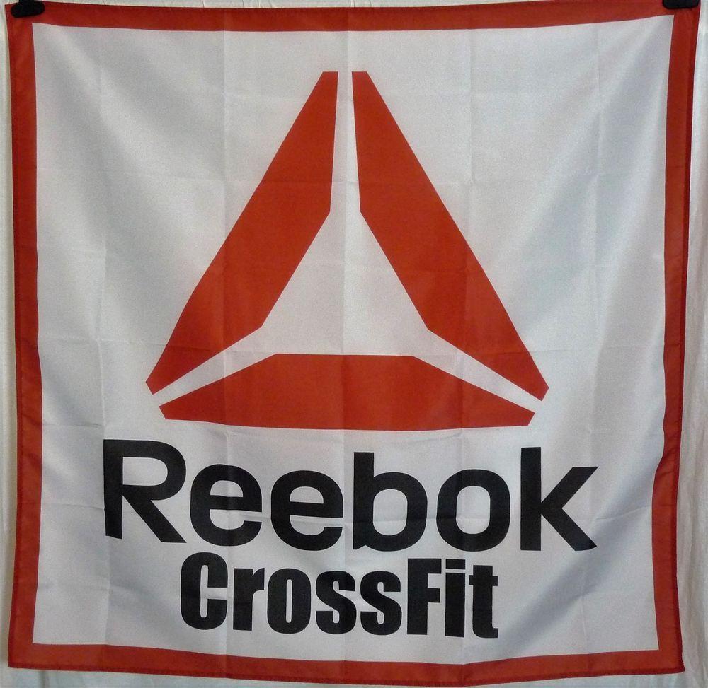 Reebok Crossfit Huge 4x4 Banner Poster Store Sign Advertising Gym Decor Reebok Gym Banner Poster Store Mesh Banner
