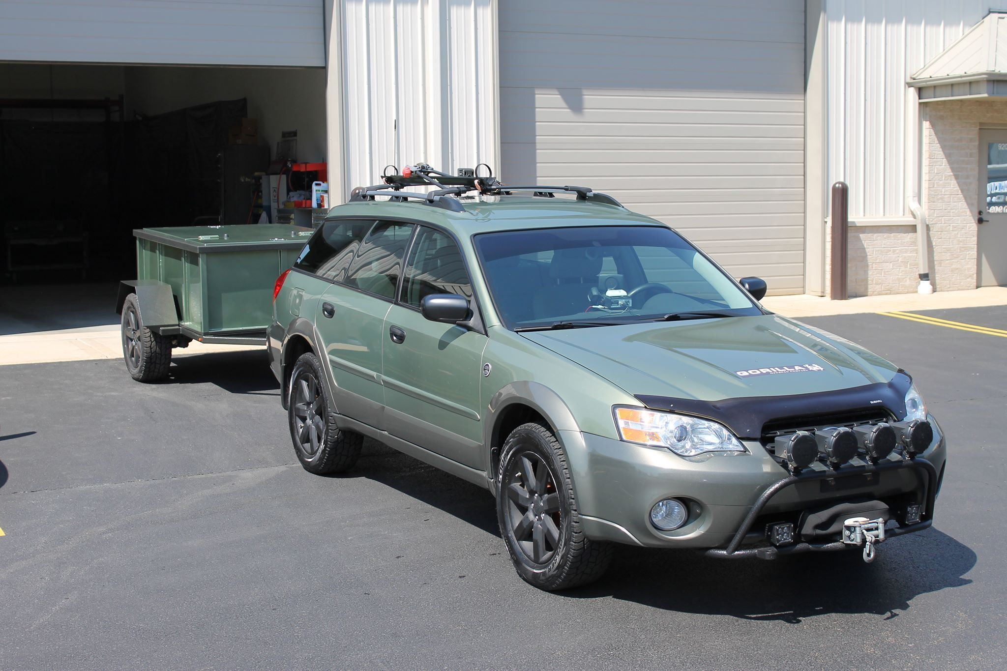 2007 Subaru Outback 2 5 Gorilla Offroad Bar W Skid Plate And Winch Mount Superwinch Terra 45 Winch 2 2 5 Subaru Outback Offroad Outback Car Subaru Legacy