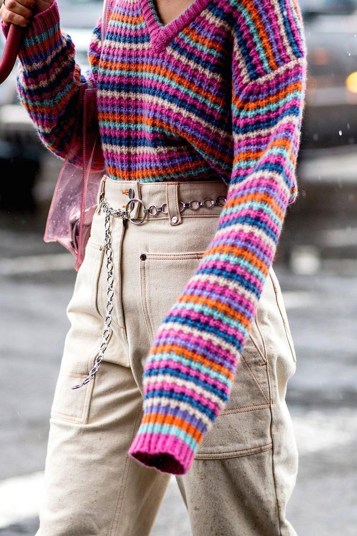 Photo of Innamorato dei suoi pantaloni! Settimana della moda di New York, autunno 2018.