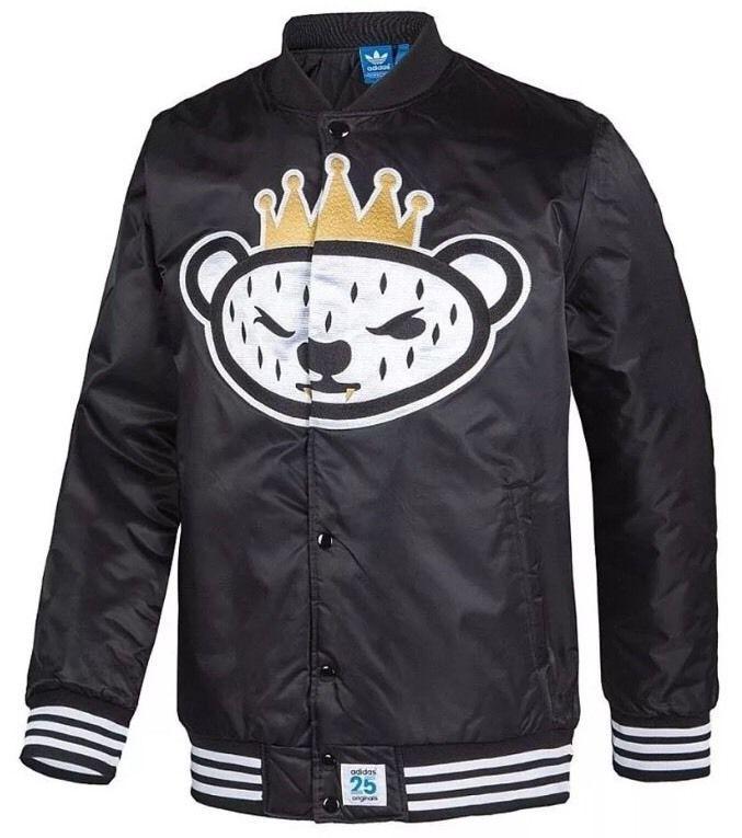 ADIDAS ORIGINALS NIGO Bear Varsity College Jacket Men's