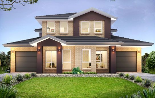 Norfolk 53 3 duplex level by kurmond homes new home for Duplex plans australia