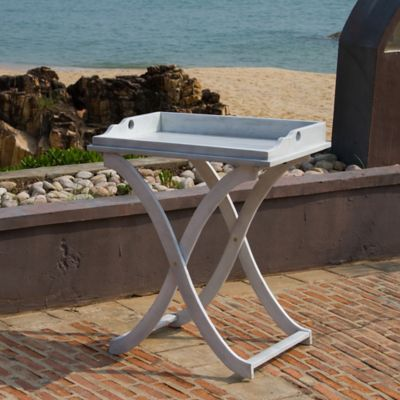 Enjoyable Safavieh Covina Tray Table In Antique White Products Home Interior And Landscaping Fragforummapetitesourisinfo