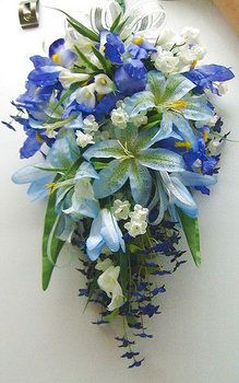 Wedding, Flowers, Reception, Blue - I like this idea, but i dnt th