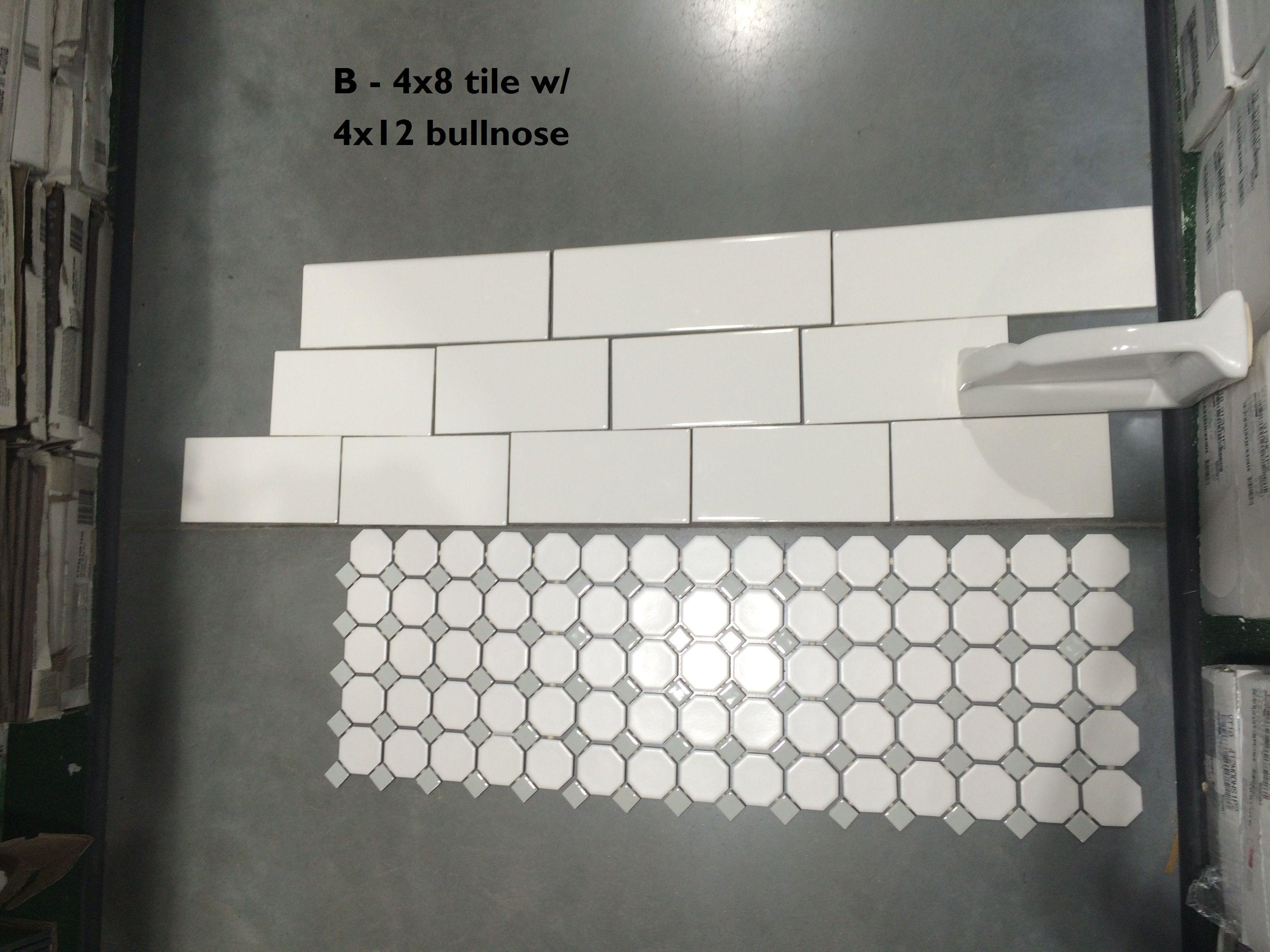 B - 4x8 brick with 4x12 bullnose | Bathroom Reno | Pinterest ...