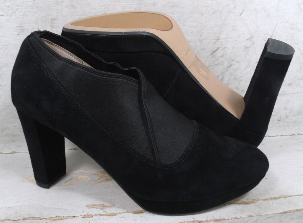 på grossist nya anländer en ny chans Clarks Narrative Womens Kendra Mix Black Leather Heels Shoes 21994 ...