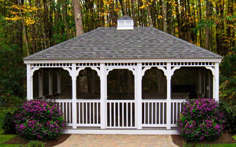 Gazebo Photos Large Backyard Landscaping Large Backyard Gazebo