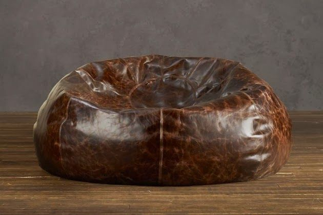 Groovy Distressed Leather Bean Bag Chair Leather Bean Bag Pabps2019 Chair Design Images Pabps2019Com