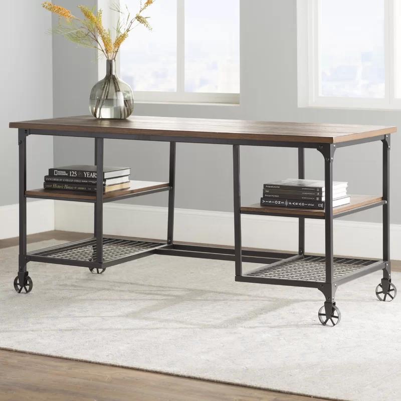 Stanger Solid Wood Desk In 2020 Solid Wood Desk Furniture Wood Desk